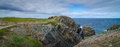 Huge Rocks And Boulder Outcrops Along Cape Bonavista Coastline In Newfoundland, Canada. Stock Photography - 81807092