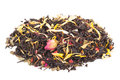Black Dry Tea With Fruits And Petals Royalty Free Stock Photo - 81808735
