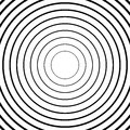 Concentric Circles, Radial Lines Patterns. Monochrome Abstract Stock Image - 81812421