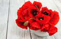 Red Poppies In A Vase Royalty Free Stock Images - 81818589