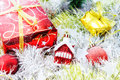 Christmas Balls Decorated And Other On White Background Royalty Free Stock Image - 81823326