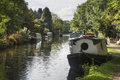 Canal Barges On Grand Union Canal At Rickmansworth In Colne Vall Royalty Free Stock Photography - 81826567