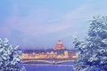 Saint Petersburg At Winter Evening. X-mas, New Year, Europe, Love And Travel Concept Royalty Free Stock Photo - 81828935