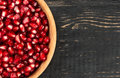 Grains Pomegranate In Bowl Stock Photography - 81832342