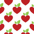 Red Apple Heart Seamless Stock Photo - 81842050