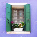 Window In Venetian Island Of Burano Royalty Free Stock Photo - 81852055