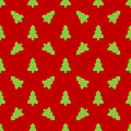 Pattern For Wrapping Paper. Green Christmas Tree Royalty Free Stock Photo - 81854375