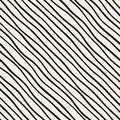 Vector Seamless Black And White Hand Drawn Diagonal Lines Pattern Stock Photo - 81855560