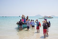 Young People Board A Little Vietnamese Boat Royalty Free Stock Photo - 81885285