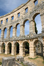 Ancient Roman Amphitheatre Of Pula Royalty Free Stock Images - 8195029