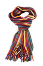 Striped Multicolored Woolen Scarf Royalty Free Stock Photo - 8196925