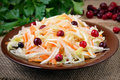 Cabbage Salad With Cranberries Stock Photography - 81914522