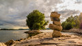 Stones Tower Royalty Free Stock Photography - 81920237