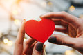 Girl Holding A Red Heart In The Hands Royalty Free Stock Images - 81925119