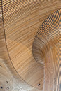 Architectural Details Of Welsh Assembly Building. Wooden Planks Royalty Free Stock Photo - 81928515
