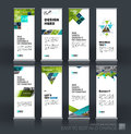 Abstract Business Vector Set Of Modern Roll Up Banner Stand Desi Royalty Free Stock Images - 81934599