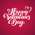Happy Valentines Day Red Lettering Background Greeting Card Royalty Free Stock Images - 81958419