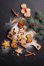 Homemade Gingerbread Christmas Cookies Royalty Free Stock Photos - 81964668