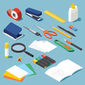 Stationery And Tools Set Royalty Free Stock Photo - 81978595