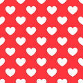 White Hearts Seamless Red Pattern Royalty Free Stock Photo - 81980705
