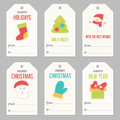 Collection Of New Year And Christmas Gift Tags. Stock Photo - 81983660
