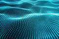 3d Rendering Blue Abstract Space Dark Background With Connecting Dots And Lines. Connection Structure, Futuristic Royalty Free Stock Photo - 81991195