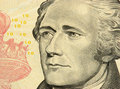 Ten Dollars Bill Closeup Royalty Free Stock Photos - 823108
