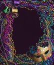 Mardi Gras Mask And Beads Royalty Free Stock Photography - 8207997