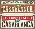 Casablanca Vintage Tin Signs Royalty Free Stock Images - 82005179