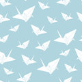 Vector Seamless Pattern Paper Origami Swan Stock Image - 82006811