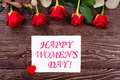 Women`s Day Heart And Roses. Stock Images - 82048444
