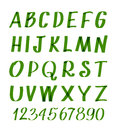 Marker Letters And Numbers. Vector Hand Written Alphabet Or Calligraphic Font Stock Photo - 82051420