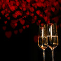 Valentines Day Background With Champagne Stock Photography - 82071212