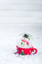 Snow Globe With Snowman Royalty Free Stock Photography - 82078957