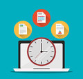 Laptop Office Work Time Supply Icon, Vector Royalty Free Stock Images - 82083819