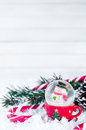 Snow Globe With Snowman On Festive Background Royalty Free Stock Images - 82084879