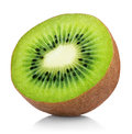 Half Of Ripe Kiwi Fruit Isolated On White Royalty Free Stock Photography - 82099917
