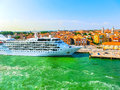 Venice, Italy - June 06, 2015: Cruise Liner Silver Wind Docked A Royalty Free Stock Photo - 82114465