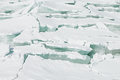 Ice Background Of Huge Blocks Of Aqua Ice From Fractured Floes. Stock Photo - 82115350
