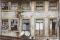 Old Dingy Front Wall House In Porto, Portugal Royalty Free Stock Image - 82115996