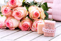 Spa Products With Rose Royalty Free Stock Images - 82126469