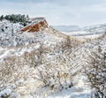 Colorado Foothills In Fresh Snow Royalty Free Stock Images - 82152199