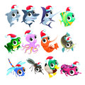 Funny Christmas Animals Royalty Free Stock Images - 82164139