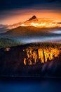 Mt Thielsen At Sunrise Oregon Landscape Vertical Composition Royalty Free Stock Image - 82176756