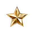 Hand Drawing Gold Star With Five Rays Elegant Element Isolated  Stock Photo - 82190990