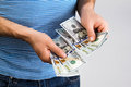 Man Holding Money In Hand Stock Photography - 82194192