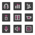 Media Web Icons Royalty Free Stock Images - 8221589