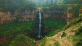 View Of Tequendama Waterfall Located In The Municipality Of Soacha Royalty Free Stock Image - 82202126