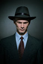Fashionable Young Man Detective In A Stylish Hat Royalty Free Stock Images - 82224329