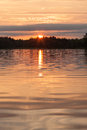 Lake Water At Sunset Stock Image - 82226871